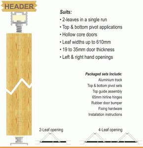 Barracuda bifold door system
